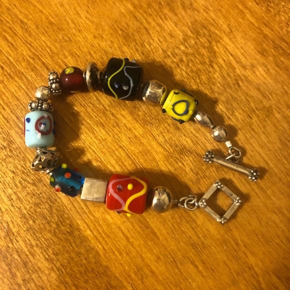 Jewelry - Blown glass toggle bracelet.